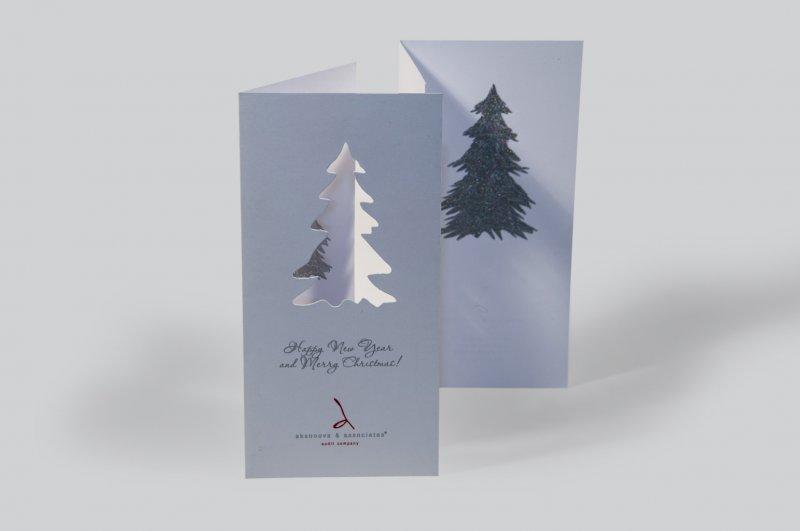 Открытках, открытки с вырубками новогодние
